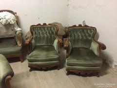 Restaurált neobarokk fotelpár