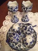 Fűszertartó asztalközép -  kék flamand mintával