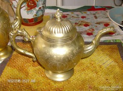 Szep vintage alpaca  aranyozott teas/kaves kanna