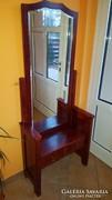Régi, retro, antik, art deco tükrös fésülködő szekrény