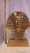Óriás réz Egyiptomi fej szobor 5,35 Kg