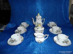 Herendi Rothschild mintás 6sz Kávés Garnitúra