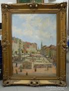 Csébi Pogány festőművész,- Városkép - olajfestmény 1926.