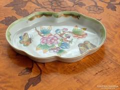 Herendi porcelán hamutartó, tálka viktória minta