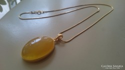 Gyönyörű aranyozott ezüst medál és nyaklánc 925.