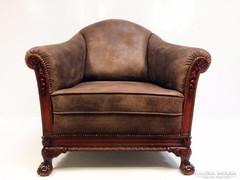 Antik chippendale szivarozó fotel