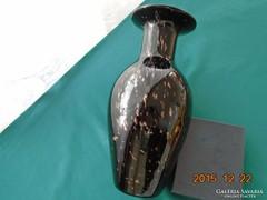 LOETZ jellegü SILBERBERG CRYSTAL-német fújt üveg váza-29 cm