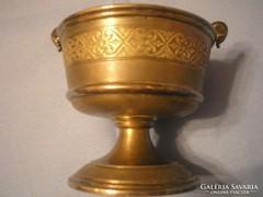 U5 Aranyozott antik kaviár,lekvár, méz tartó