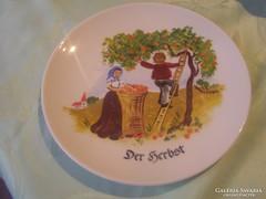 Csodaszép jelenetes tányér 19cm