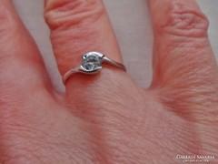Gyönyörű14k brill csiszolású církon aranygyűrű