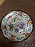 Régi kínai kézzel festett porcelán tányér