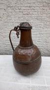 antik vörösréz fedeles kanna (1760-1850)