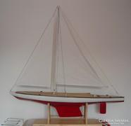 Balatoni vitorlás hajómakett, 1970-es évek, impozáns 160cm