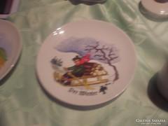 Csodaszép tányér  jelenetres tányér
