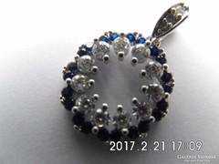 Zafír ezüst medál