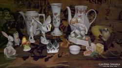 Sok-sok sérült,hiányos porcelán ( Zsolnay,Hollóházi.....)
