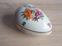 Herendi nagy virágos tojás bonbonier