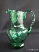 Zöld üveg kis kancsó kiöntő