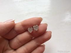 Bájos szív  fülbevaló kristályokkal