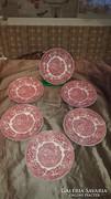 Angol porcelán süteményes tányérok 6 főre