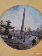 Limoges festett porcelán tányér-Louis Dali-Párizsi Életképek