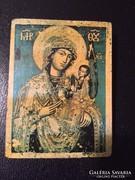 Fa lapon szent kép, ikon-szerű (P)