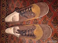 Antik cipő valódi bőr gumi talppal 50-es évek