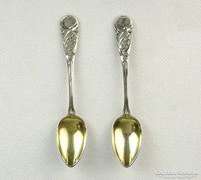 0K630 Antik 800-as ezüst mokkás kanál pár 28g