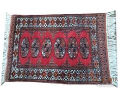 Pakisztáni kézi csomózású gyapjú szőnyeg 89 CM X 62 CM
