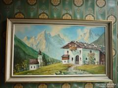 Olaj-farost festmény...78*47 cm