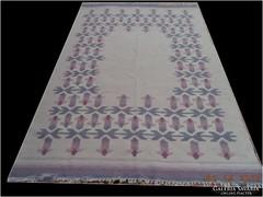 Mexikói kézi szövésű kilim gyapjú szőnyeg 200x133