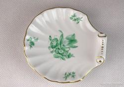 0K771 Kagyló alakú herendi porcelán tálka
