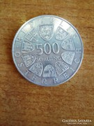 Ezüst 500 Schilling (1986) Első Thaler érme 500 év.ford.