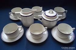 Zsolnay teáskészlet, teáskanna nélkül