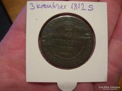 3 Kreuzer 1812 S-Schmöllnitz VF