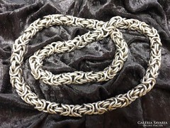 Tömör, vastag ezüst király lánc
