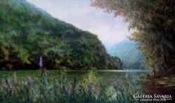 Hámori-tó. Lillafüred. *  Olajfestmény * Hüse * Jegyzett