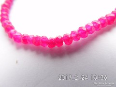 Rózsavörös rubin karkötő