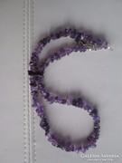 Eladó a képen látható természetes kék zafír drágaköves nyakl