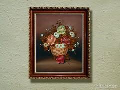 VIRÁGCSENDÉLET - Patza Ildikó festménye