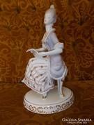 Hollóházi barokk énekesnő nopp,szobor.