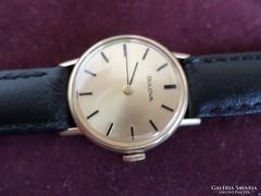 Bulova svájci 18 karátos arany női óra