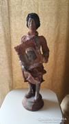 Nagyméretű/48cm-es/ különleges, kortárs kerámia szobor!
