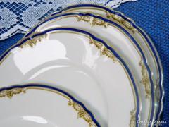 Antik Hutshchenreuther porcelán süteményes tányér  4 db