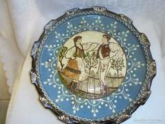 Korondi kerámia fali tányér jelzett