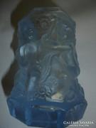 Figurás üveg váza