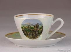 0K792 Régi porcelán kávéscsésze BASTEIBRÜCKE