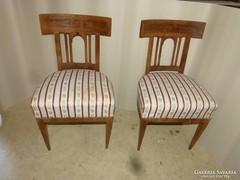 2 db antik biedermeier szék