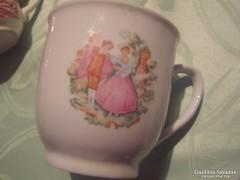 Csodaszép jelenetes csésze