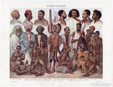 Afrikai népfajok, Révai nyomat 1911, eredeti